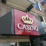 Gevelbelettering Casino