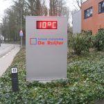 Lichtreclame temperatuur