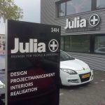 Julia bedrijfsbord