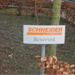 Parkeerplaatsborden Schneider logistics